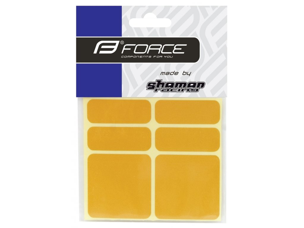 Nálepky Force reflexní sada 6 ks, žluté