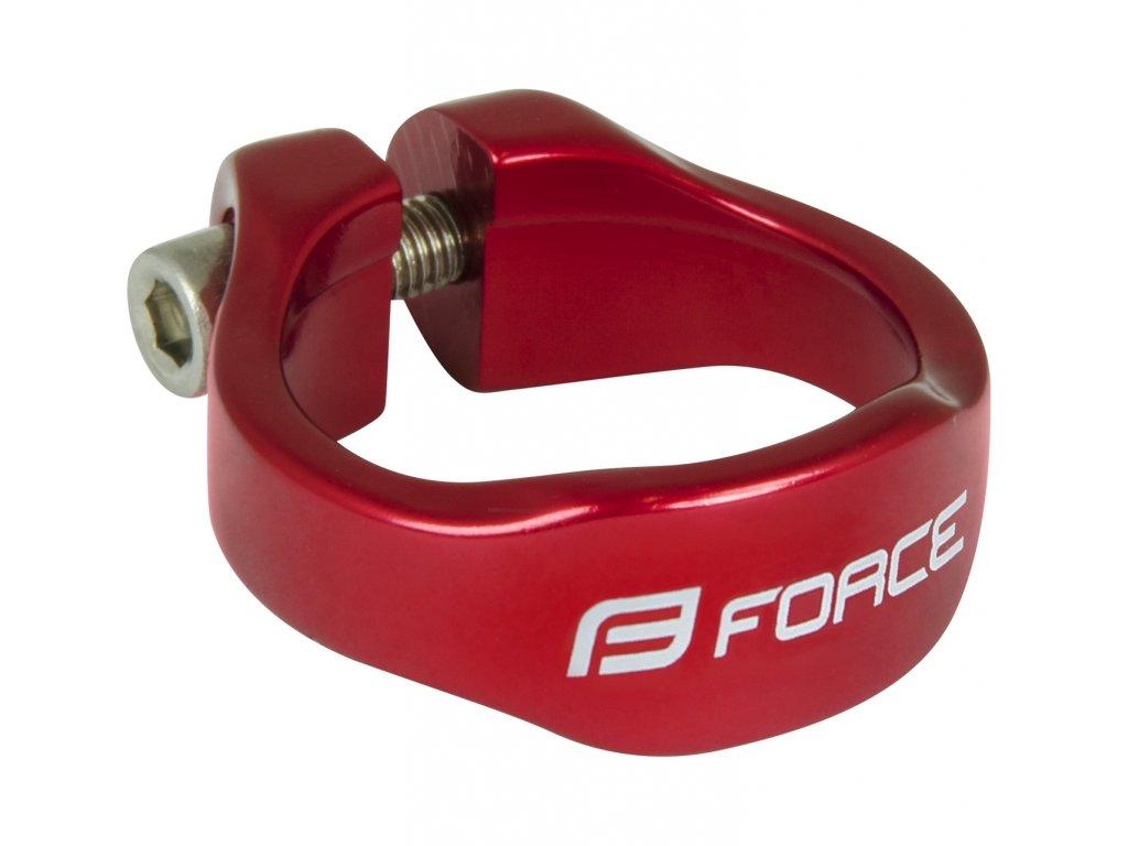 Objímka sedlovky Force na inbus 34,9mm Al, červená