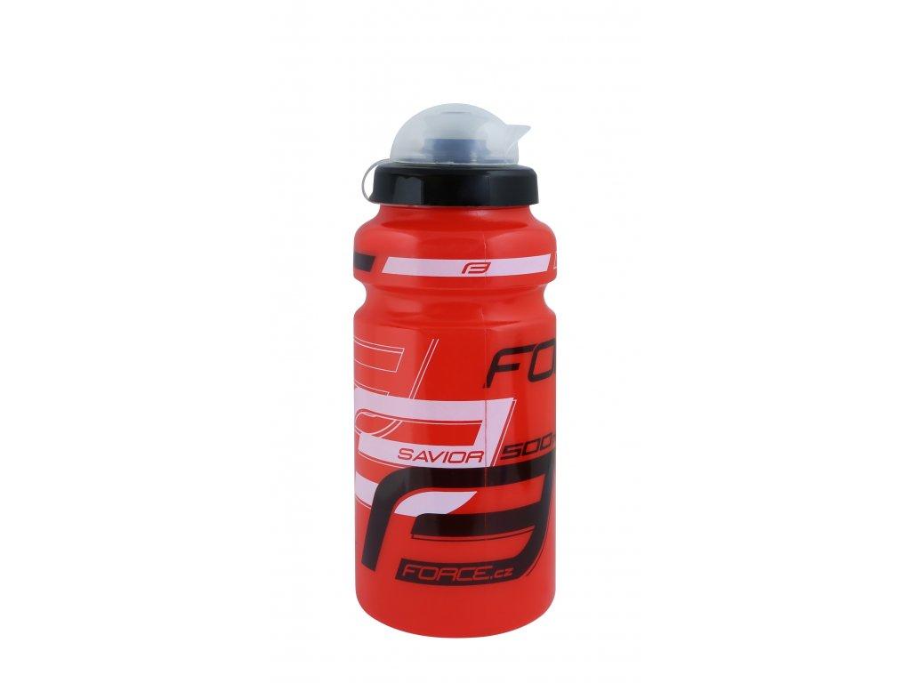 Láhev Force SAVIOR ULTRA 0,5 l, červeno-bílo-černá