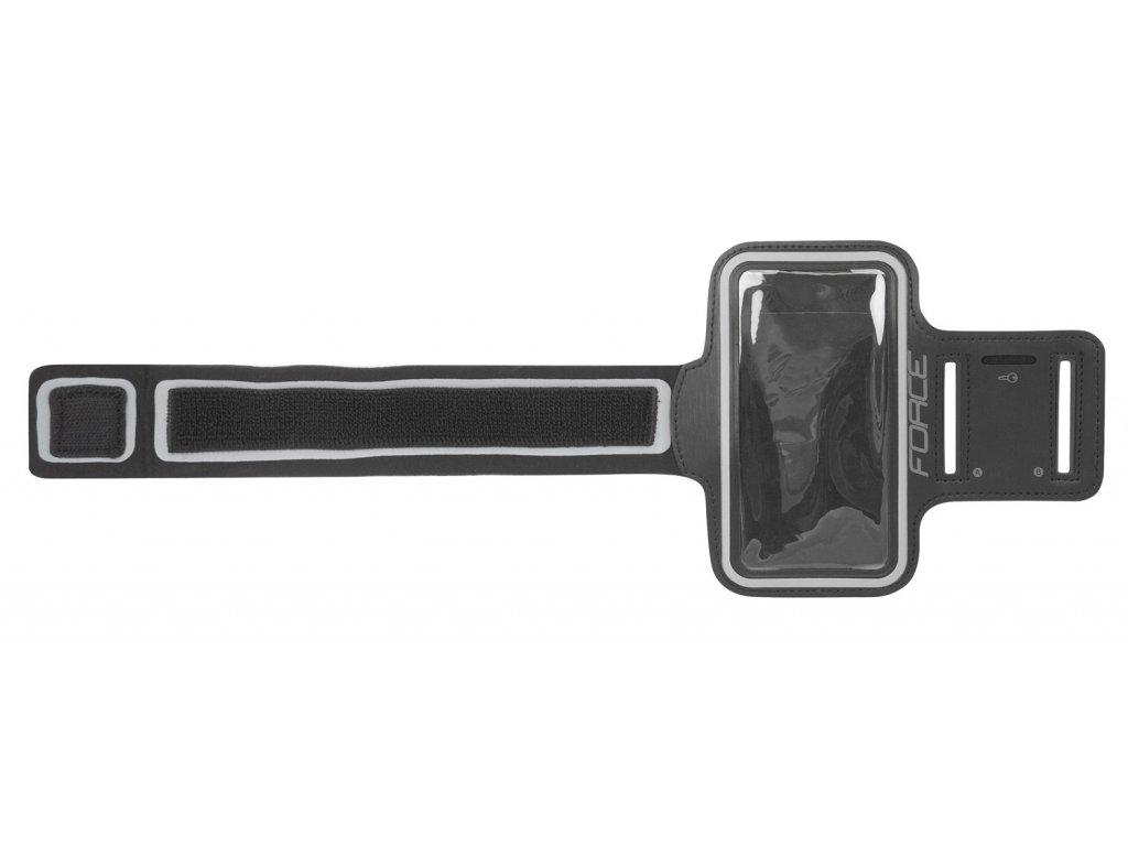 Obal Force na mobil na ruku při sportování, černý