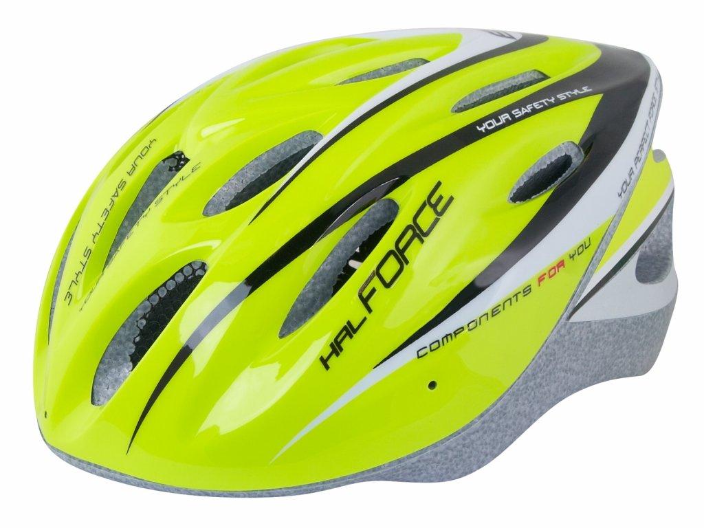 Cyklistická přilba Force HAL, fluo-černá