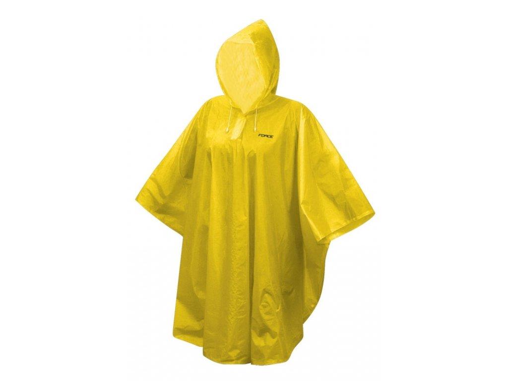 poncho Force dětské nepromokavé, žluté