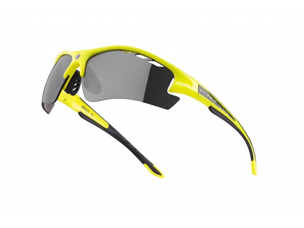 Cyklistické brýle Force RIDE PRO s dioptrickým klipem, fluo