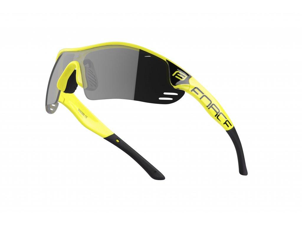 Cyklistické brýle Force RACE PRO, fluo