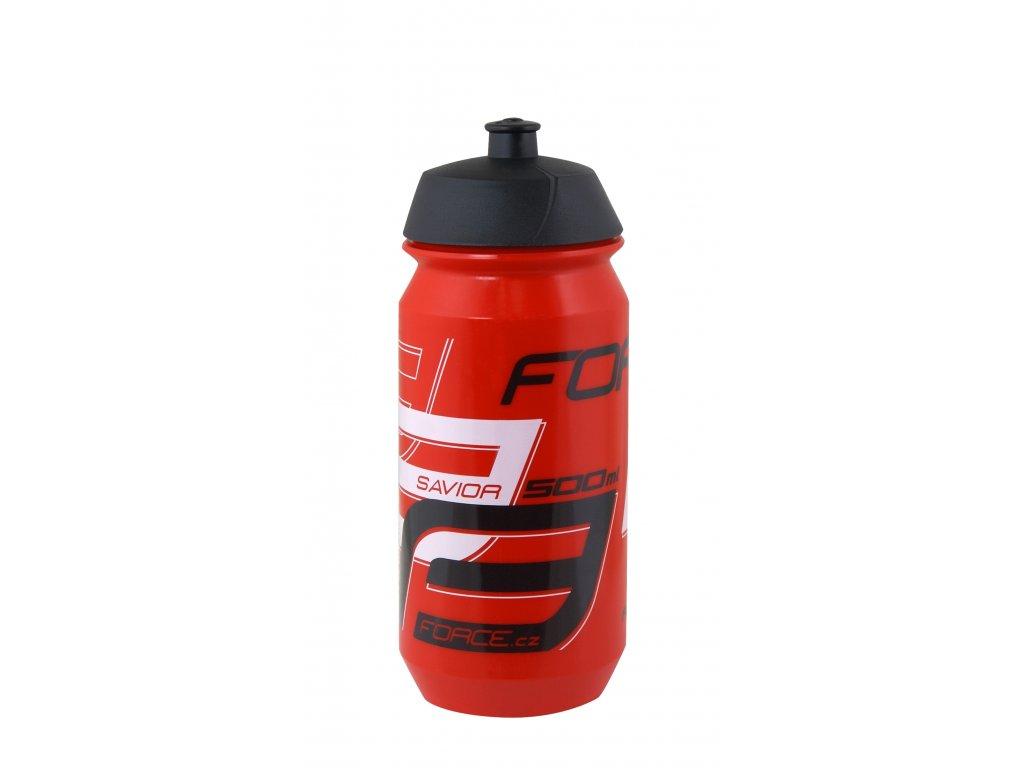 Láhev Force SAVIOR 0,5 l, červeno-bílo-černá