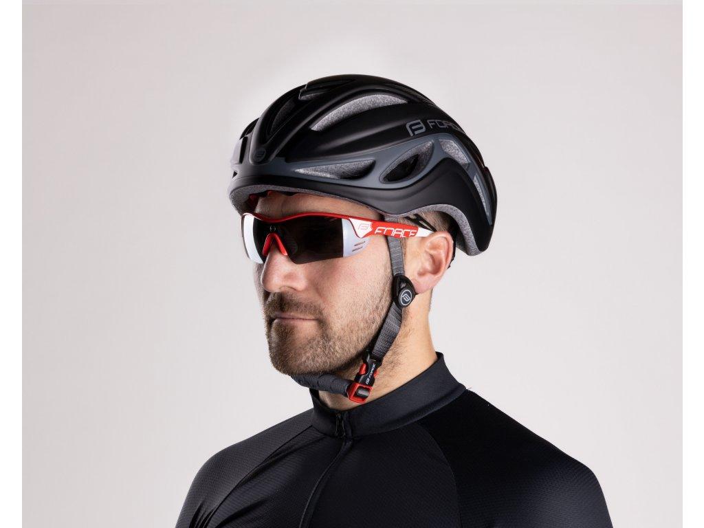 Cyklistické brýle Force RACE PRO, červeno-bílé