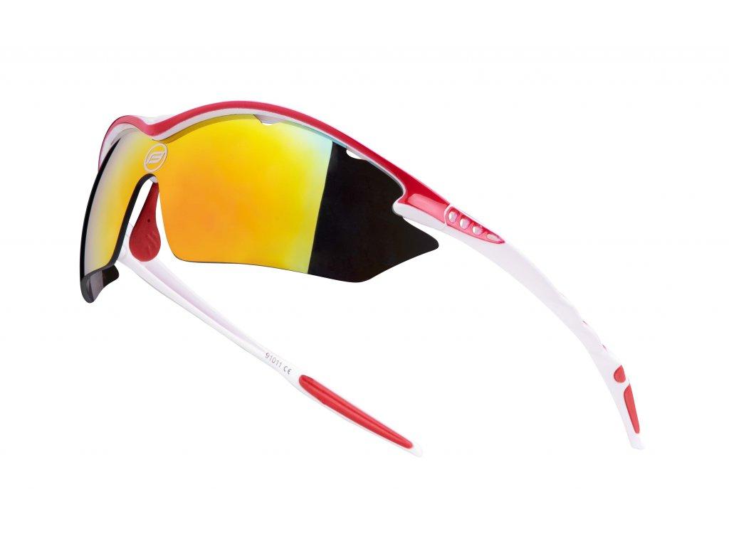 Cyklistické brýle Force RON, bílo-červené