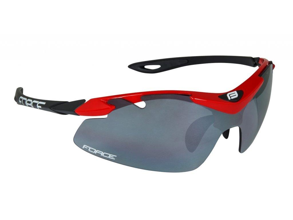 Cyklistické brýle Force DUKE, červeno-černé