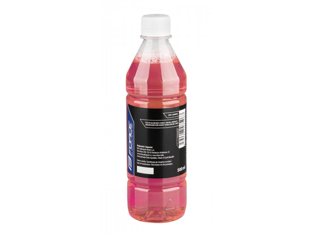 Čistič Force na řetězy 0,5 l, láhev růžový