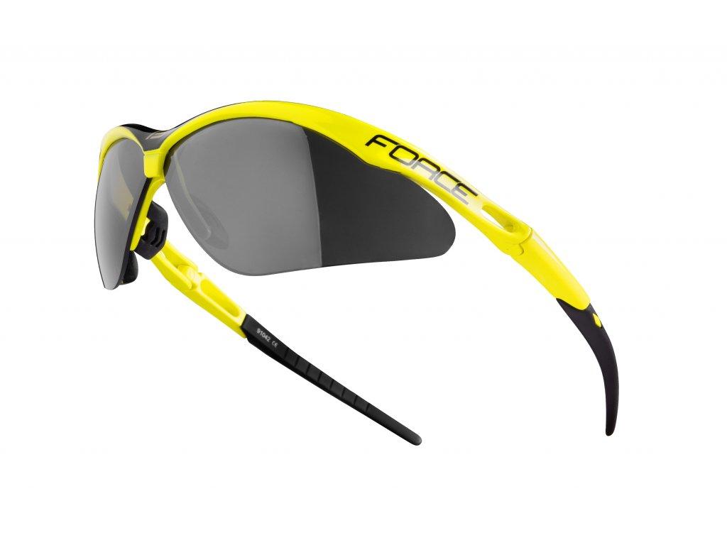 Cyklistické brýle Force AIR, fluo-černé
