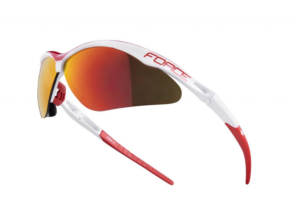 Cyklistické brýle Force AIR, bílo-červené