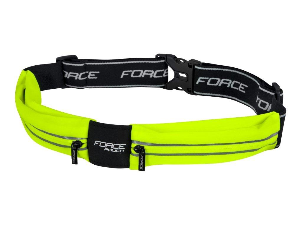 opasek běžecký Force POUCH, fluo