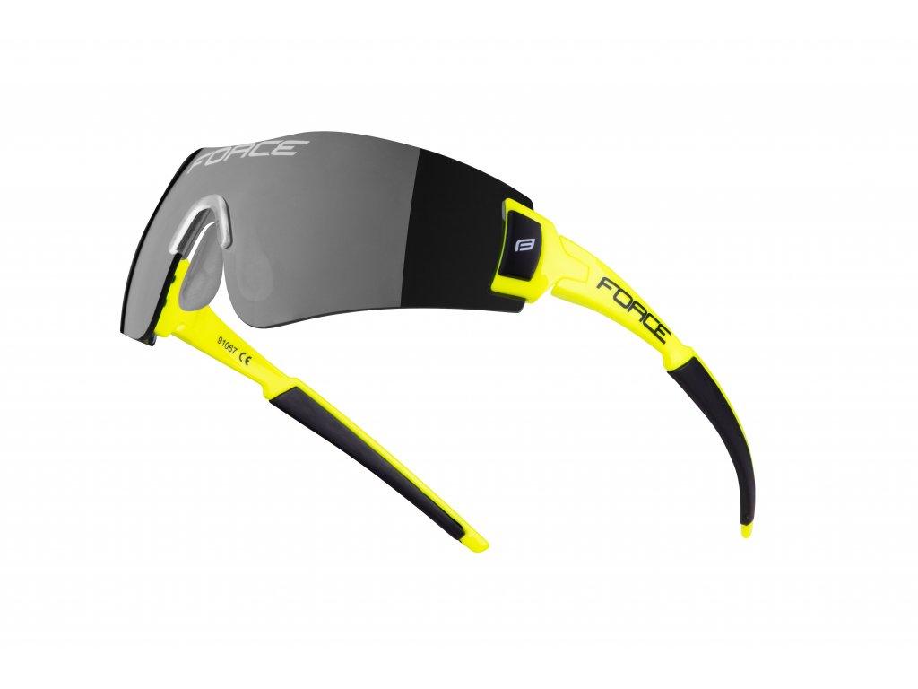Cyklistické brýle Force FLASH, fluo-černé