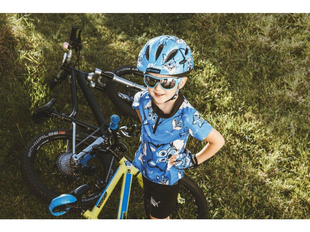 Brýle Force POKEY dětské, modro-bílé, černá skla