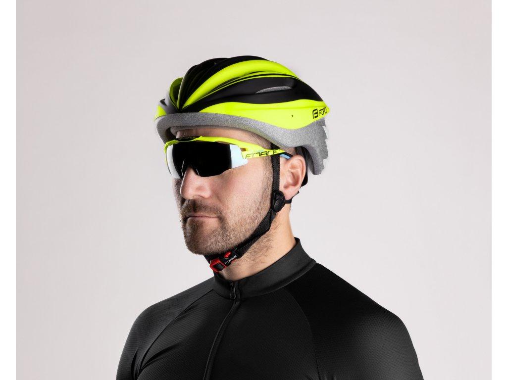 Cyklistické brýle Force EVEREST, fluo