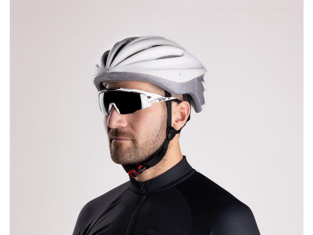 Cyklistické brýle Force EVEREST, bílo-černé