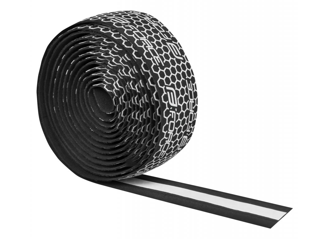 Omotávka Force EVA černá+bílý silikon.potisk