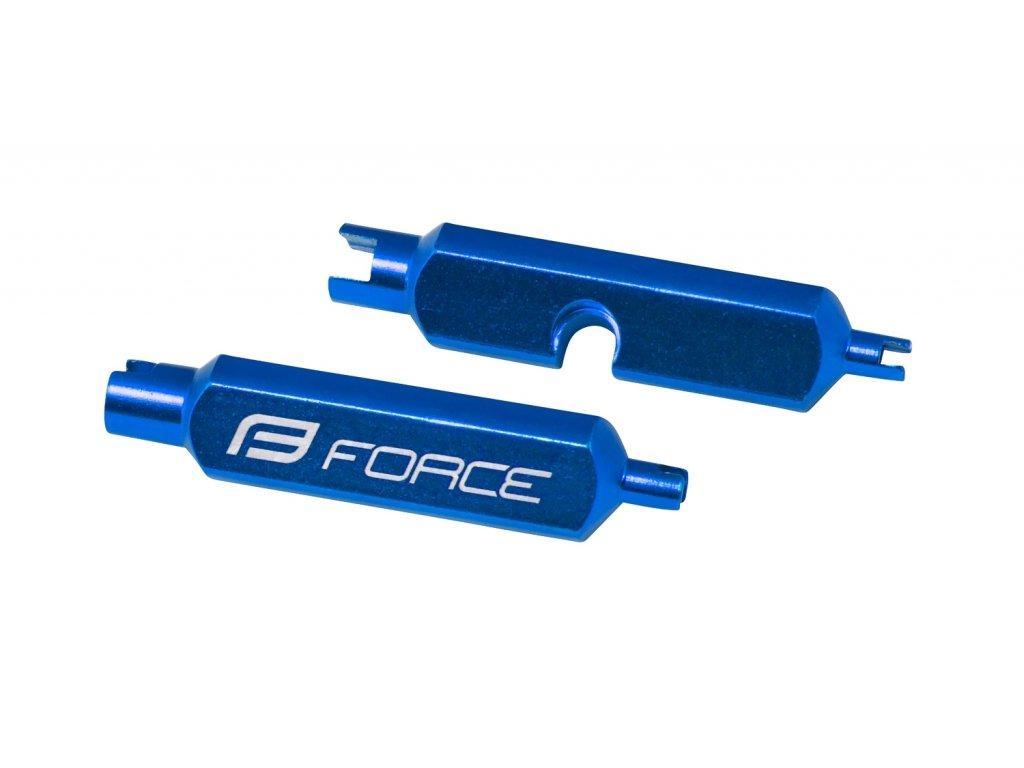 Klíč Force na vložky AV/FV ventilků, hliník, modrý