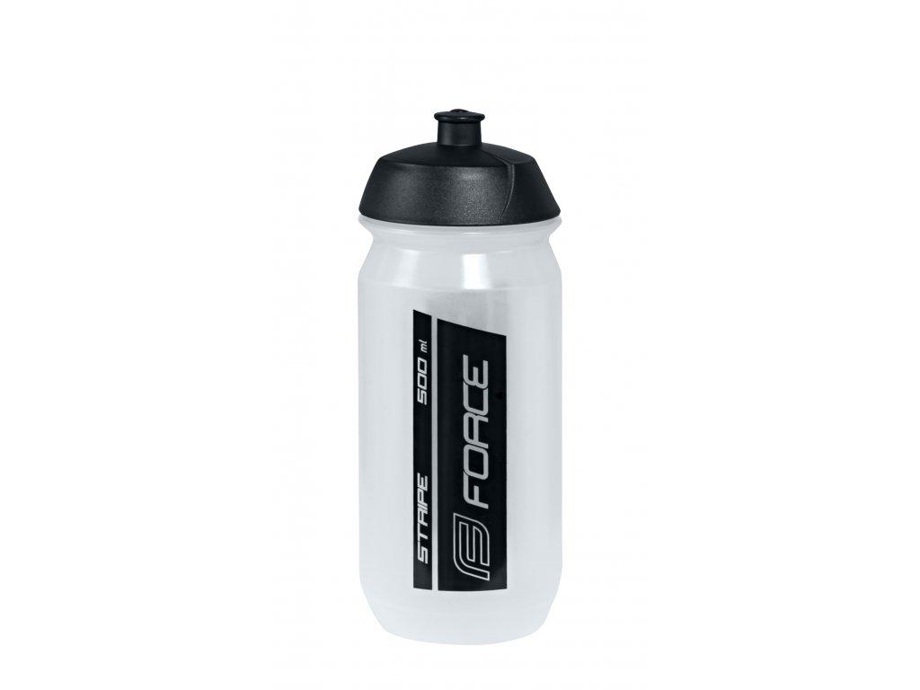 Láhev Force STRIPE 0,5 l, transparentní-černá