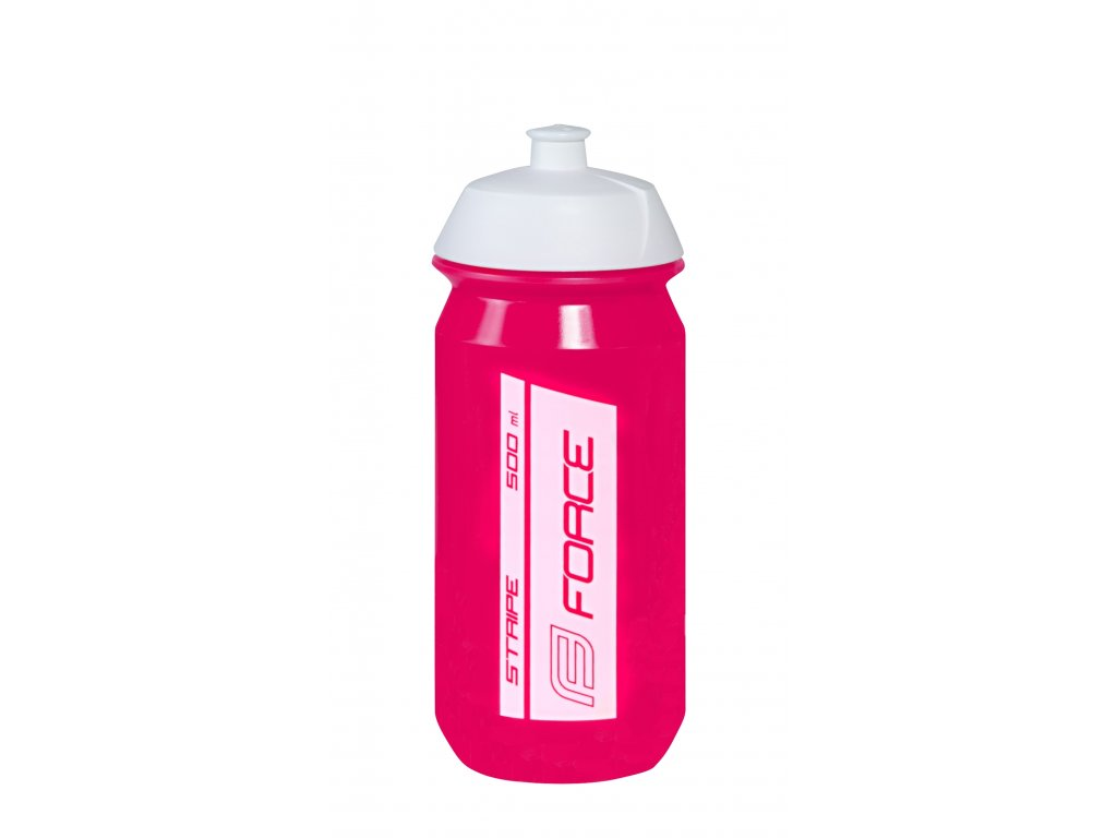 Láhev Force STRIPE 0,5 l, růžovo-bílá