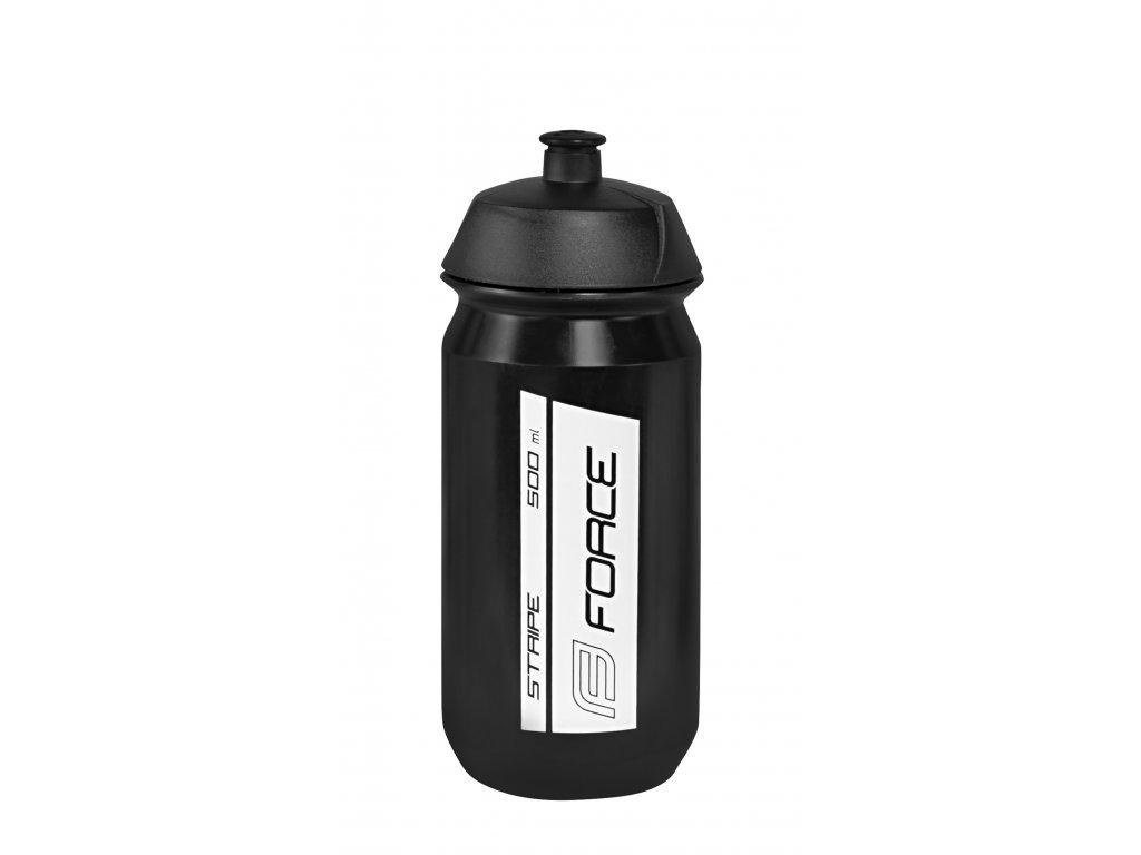 Láhev FORCE STRIPE 0,5 l, černo-bílá