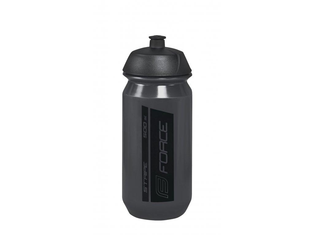 Láhev Force STRIPE 0,5 l, transparentní tmavě šedá