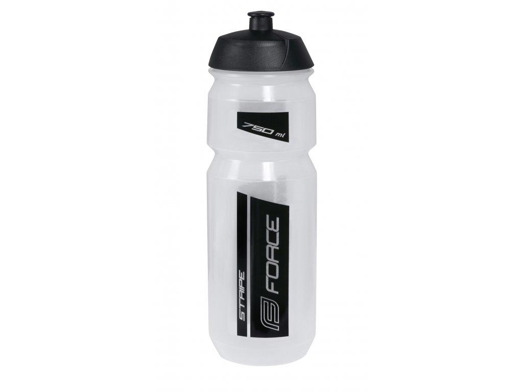 Láhev Force STRIPE 0,75 l, transparentní-černá