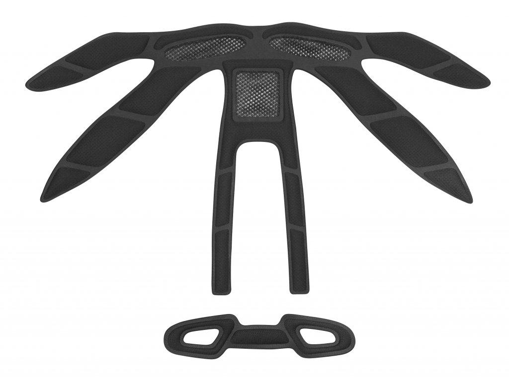 Výstelka přilby Force ORCA, černá UNI 5 mm
