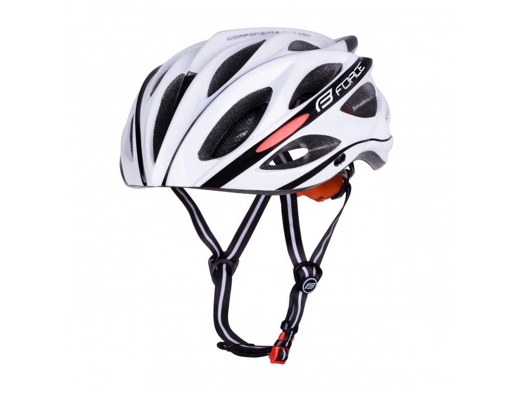 Cyklistická přilba Force BULL, bílo-černá