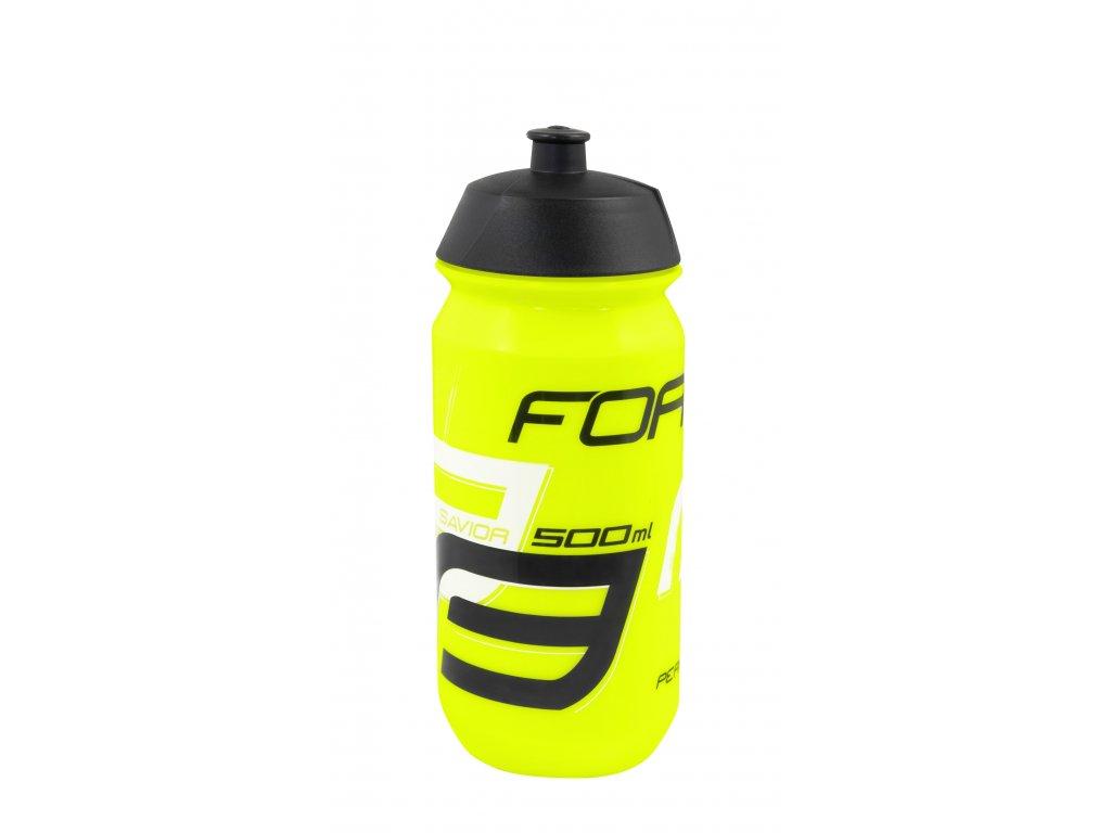 Láhev Force SAVIOR 0,5 l, fluo-černo-bílá
