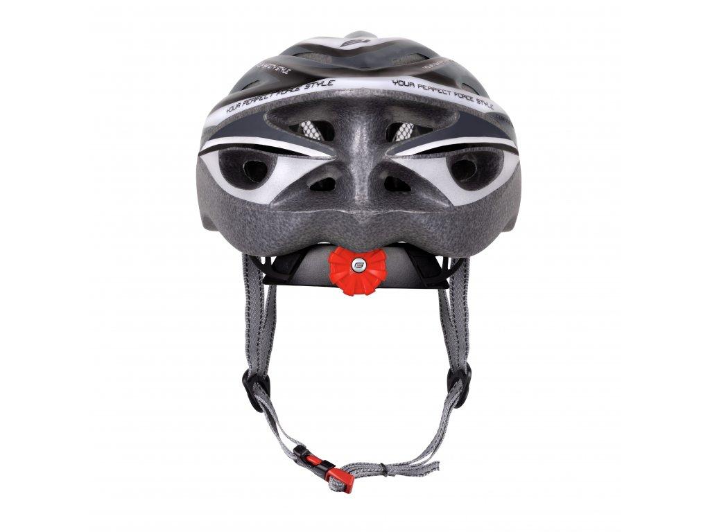 Cyklistická přilba Force HAL, černo-šedo-bílá