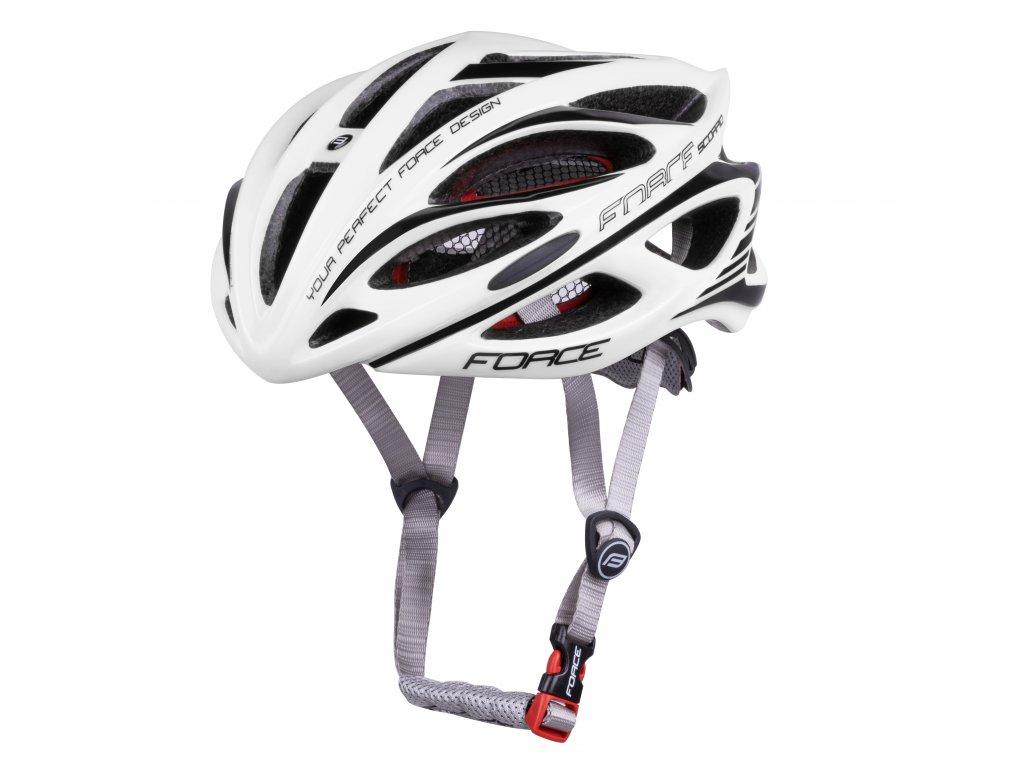 Cyklistická přilba Force SCORPIO, bílá