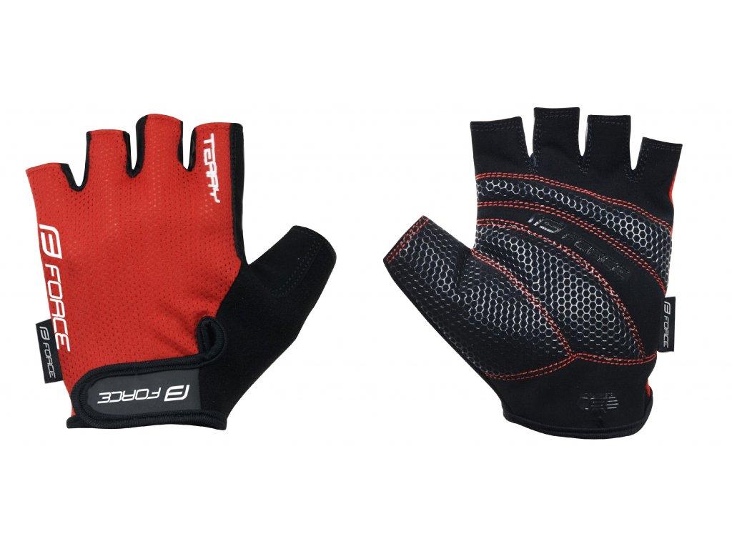 rukavice Force TERRY, červené