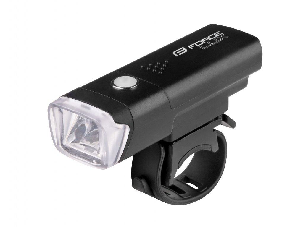 Světlo přední Force LUX 100LM baterie, černé