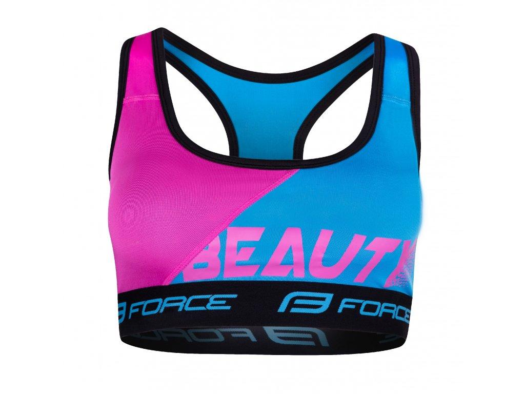podprsenka sportovní Force BEAUTY, modro-růžová