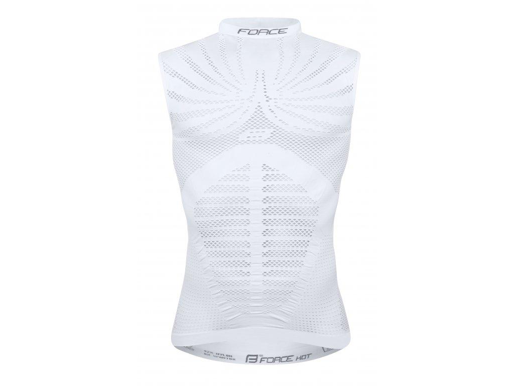 triko funkční Force HOT bez rukávů, bílé