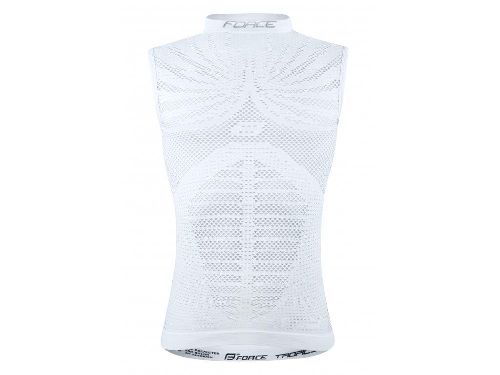 triko funkční Force TROPIC bez rukávů, bílé