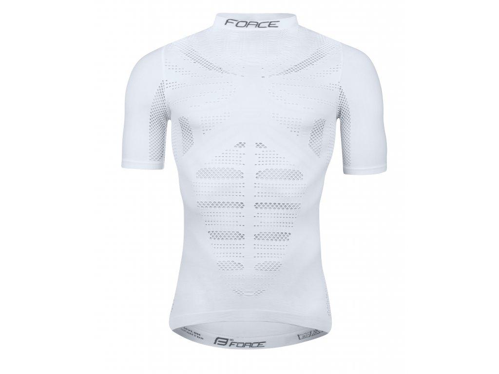triko funkční Force WIND krátký rukáv, bílé