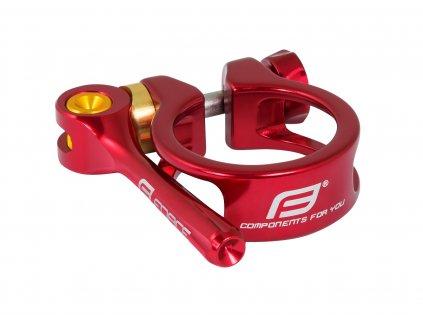 Objímka sedlovky Force s RÚ 31,8mm Al, červená