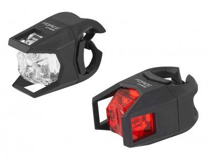 Blikačky sada Force CAGE bateriové přední+zadní