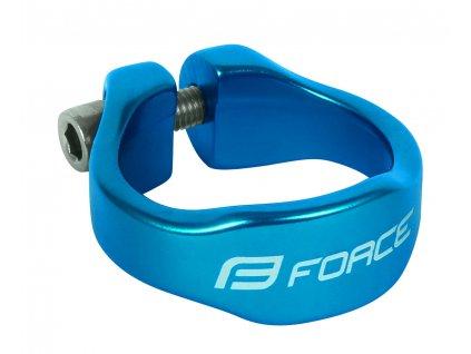 Objímka sedlovky Force na inbus 31,8mm Al, modrá
