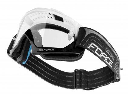 Sjezdové brýle Force GRIME, bílo-černé