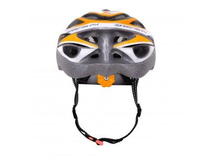 Cyklistická přilba Force HAL, černo-oranžovo-bílá