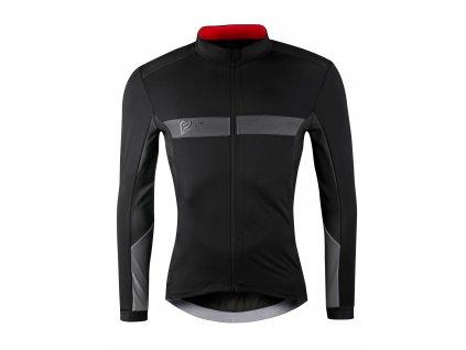 Zimní cyklistická bunda Force BRIGHT, černá