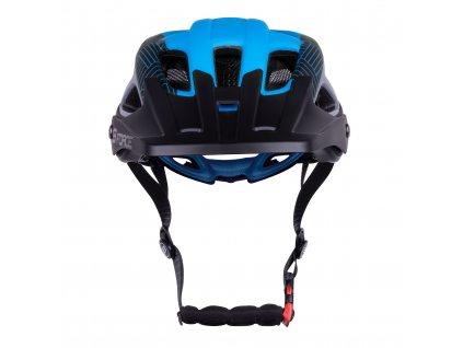 Cyklistická helma Force AVES MTB, černo-modrá matná