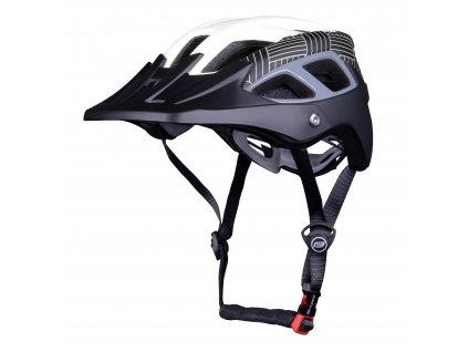 Cyklistická helma Force AVES MTB, bílo-černá matná