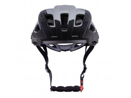 Cyklistická helma Force AVES MTB, šedo-černá matná