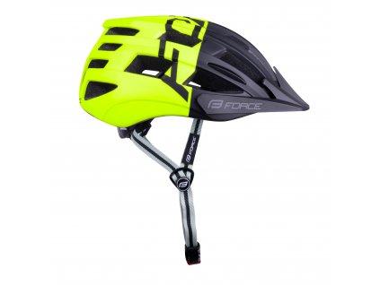 Cyklistická helma Force CORELLA MTB, černo-fluo