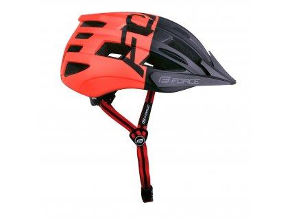 Cyklistická helma Force CORELLA MTB, černo-červená