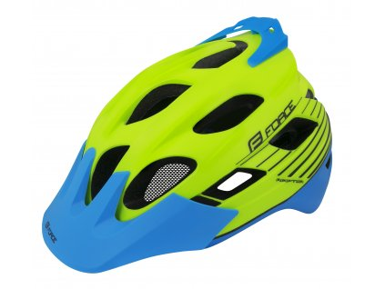 Cyklistická helma Force RAPTOR MTB fluo-modrá